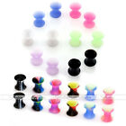 Pair Inner Colorful Pattern Inlaid Acrylic Saddle Tunnel Plug Gauge Ear Diffuser