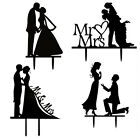 ROMANTIC/FUNNY WEDDING CAKE TOPPER FIGURE BRIDE & GROOM COUPLE BRIDAL DECOR
