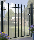 Malaca Ball Top Garden Gates Fits 762mm To 1067mm Gaps Wrought Iron Metal Gate
