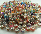 new mix LAMPWORK Large hole beads fit European Bracelet Accessories wholesale m2