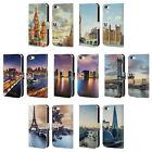 HEAD CASE DESIGNS CITY SKYLINES LEATHER BOOK CASE FOR APPLE iPHONE 5 5S SE