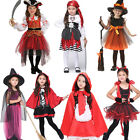 Girls Pirate Halloween Fancy Dress Kids Children Cosplay Costume Outfit Gift