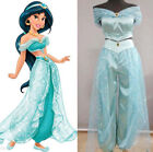 Jasmine Princess Cosplay Costume Aladdin Arabian Fancy Dress Women Tops Pants