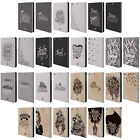 HEAD CASE HAND DRAWN TYPOGRAPHY LEATHER BOOK CASE FOR APPLE iPAD MINI 1 2 3