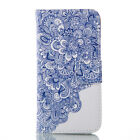 Pattern Flip Wallet Stand Painted Leather TPU Card Slot Case Cover For Samsung