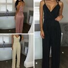 New Womens V-Neck Jumpsuit Ladies Evening NightOut Party Playsuit Size 6-16