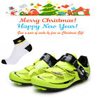 2017 Men's Road Cycling Lock-slip Shoes Bicycle Bike PU SPD Shoes New S12019V
