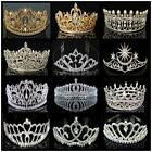 Wedding Bridal Tiara Crystal Rhinestone Crown Party Prom Pageant Veil Headband