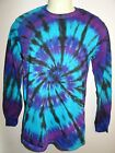 MENS TIE DYE DYED LONG SLEEVE T SHIRT HIPPY RAVE DOOF SIZES S M L XL XXL & XXXL