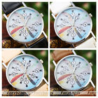Colorful Feather Arabic Numerals Arrow Dials PU Leather Band Quartz Wristwatch