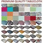 PVC VINYL WIPE CLEAN  TABLECLOTH WIPEABLE TABLE COVER PROTECTOR LOTS OF DESIGN