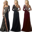 New Womens Lace Long Dress Evening Party Ladies Bridesmaid Dresses Size 8-18