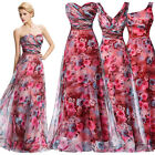 Ladies Floral Wedding Long Short Evening Gown Formal Party Bridesmaid Maxi Dress