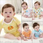 3pcs Newborn Baby Bodysuit Boy Girl Kids Cotton Romper Jumpsuit Clothes Outfit