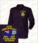 35th FALKLANDS ANNIVERSARY Embroidered Crested Premium Long Sleeved Rugby Shirt