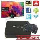 TX3 Pro S905X Smart 4K WIFI Loaded TV BOX lot Android 6.0 Quad Core+ Keyboard