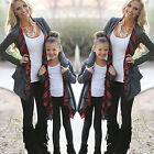 Mother and Daughter Red Grid  Autumn Summer Bat Sleeve Blouse For Adult Children