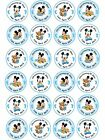 24 x Personalised Christening Baptism Baby Shower Boy Girl Cake Cupcake Toppers