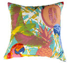 TROPICAL BRIGHT BEACH  PARROT FRUIT FABRIC CUSHION COVER BED SOFA THROW PILLOW