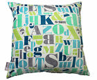 LETTER PRESS ALPHABET BLUE MICHEAL MILLER BOYS BED CUSHION COVER THROW PILLOW