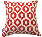 NEW OUTDOOR INDOOR THROW CUSHION COVERS VROOM RED CONTEMPORARY LOUNGE PILLOW
