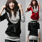 new Women Long sleeve Hoodie Sweatshirt Jumper Sweater Pullover Tops Coat Autumn