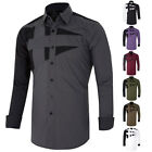 Mens Luxury Formal Casual Shirts Long Sleeve Slim Fit Stylish Dress Shirts Tops