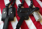 J&J CUSTOM GLOCK HORIZONTAL PREMIUM LEATHER SHOULDER RIG HOLSTER W/ MAG HOLDER