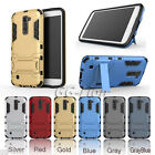 Heavy-Duty Dual Layer Armor Skin Case Cover For LG K10 3G, K410