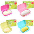 Bathroom Portable Candy Color Soap Box Dish Travel Carry Case Container