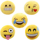 Yellow Round Cushion Soft Emoji Smiley Emoticon Stuffed Plush Toy Doll Pillow US