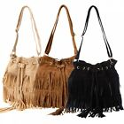 Fashion Fringe Tassel Suede Shoulder Messenger Bag Cross Body Handbag TXCL