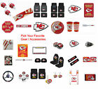 New NFL Kansas City Chiefs Pick Your Gear / Car Accessories Official Licensed $17.49 USD on eBay