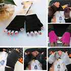 "5.9"" Winter Autumn Thick Soft Warm Women Winter Gloves Fingerless Gloves MI"