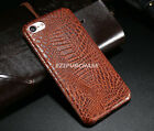 Luxury Crocodile Genuine PU Leather Back Case Cover For iPhone X 7 8 Plus S001