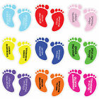 Personalised Shoe Feet Shaped Name Labels Tags with Transparent Covers