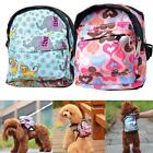 Pet Dog Backpack With Leash Cute Outdoor Travel Snack Bag Traction rope  A
