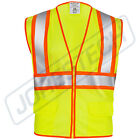 ANSI Class 2 Two Tone High Visibility Safety Vest with Reflective Strips Pockets