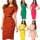 womens ladies Summer Sexy Casual Go to work Hippie Work Career Sheath Dress Size