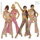 Ladies Womens 70s Fever Jumpsuit Cutout Costume Outfit for Disco Fancy Dress
