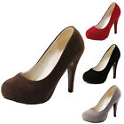 idomcats NEW WOMENS LADIES PLATFORM STILETTO HIGH HEELS COURT SHOES SIZE 0-10