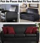 Black Leather Home Theater Recliner Chair Sofa Sleeper Loveseat Recliners Sofas