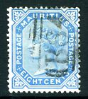 SEYCHELLES/MAURITUS-1879-80 8c Blue fine used example used in Seychelles Sg Z48