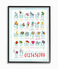 123 baby songs - Stupell Industries ABC 123 Songs and Icons Giclee Texturized Framed Art