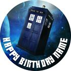dr who cake topper - EDIBLE Dr Who Tardis Birthday Party Cake Topper Wafer Paper 7.5
