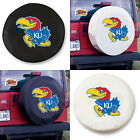 Kansas Jayhawks Exact Fit Size Black or White Vinyl Spare Tire Cover