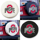 Ohio State Buckeyes Exact Fit Size Black or White Vinyl Spare Tire Cover