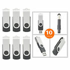LOT 10 20 50 100 1GB USB Flash Drive Rotating Memory Sticks Pen Drive Gray Color