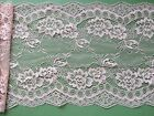 "Laces Galore~Clipped Pretty Dusky Pink Wide Delicate Flower Lace 7.5""/19 cm"