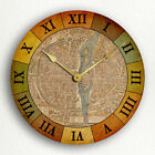 Paris France Map Circa 1550 Beautiful Vintage Style Silent Wall Clock